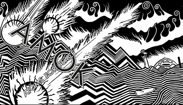 Longtime Radiohead album artwork collaborator Stanley Donwood lends his signature style to Thom Yorke's new band. (Courtesy of XL Records)