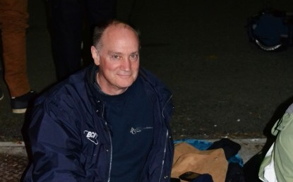 BCIT President Don Wright tries a night of being homeless