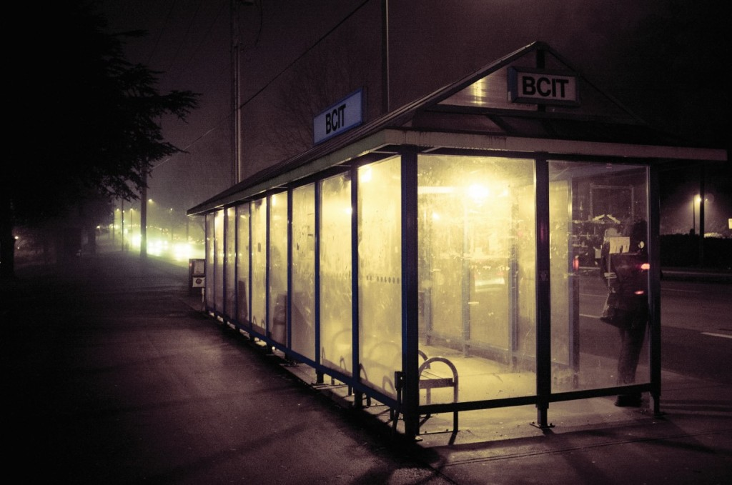 Not many live to talk about BCIT's haunted bus stop... Courtesy Ervin Cho