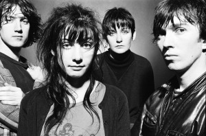 My Bloody Valentine (Kevin Shields, Debbie Googe, Colm O'Ciosoig and Belinda Butcher) photographed in the early 1990's.