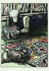 Spiegelman's self portrait from the cover of The Village Voice from June 6, 1989 (Courtesy of Art Spiegelman)