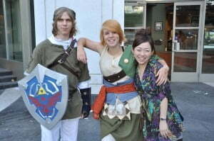 Fans dress as video game characters at Anime Evolution. — David K
