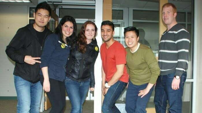New student representatives pose for a victory shot. — Neetu Garcha