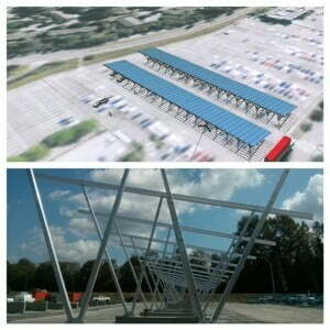 Expected completion date of solar panels in staff parking Lot 7 is November 1 Photos courtesy of BCIT