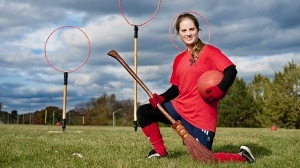 Andrea Hill is the captain of Carleton's quidditch team. The team is ranked second in Canada and is heading to the world championships in New York on Nov. 12. (James Park Photo)