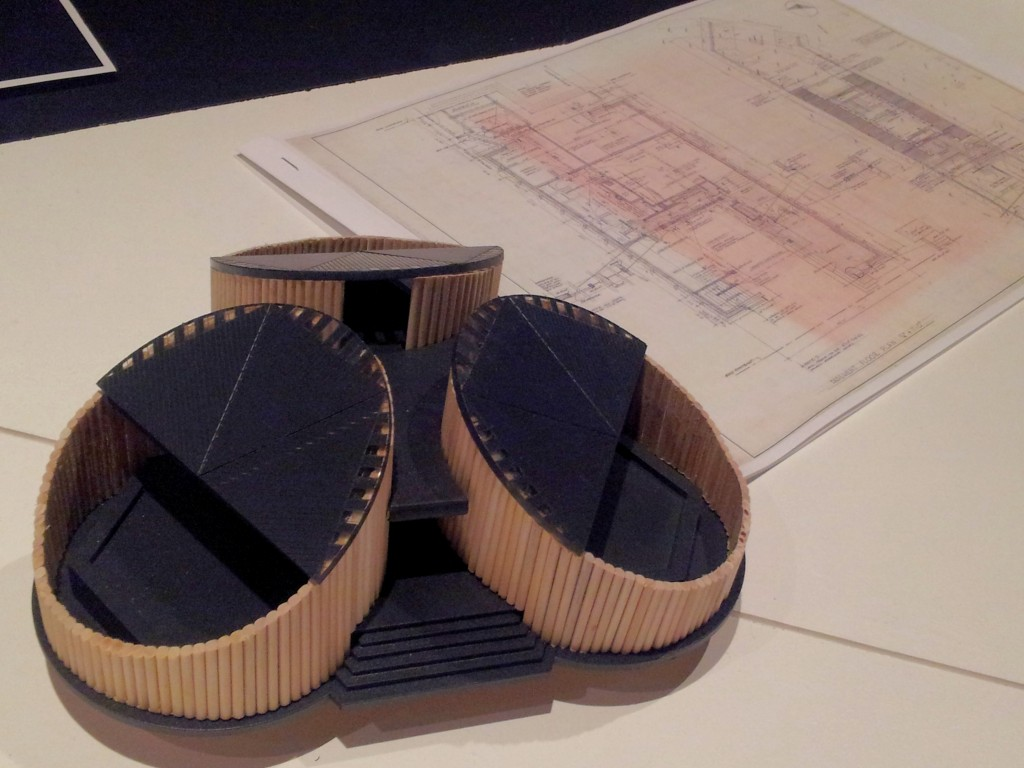 Plans and model of the unusual 'Connell Cabin'. [Laura Taylor]