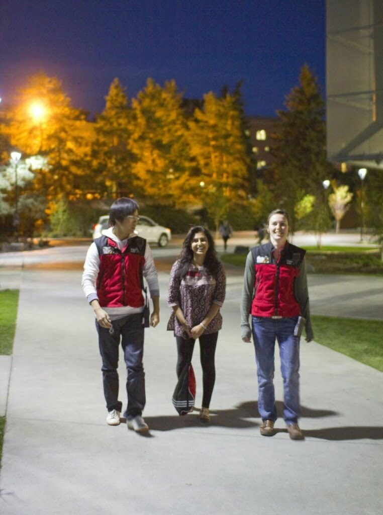 BCIT urges students to use Safer Walk or walk with friends in the dark hours. Photo by Ben Hilborn.