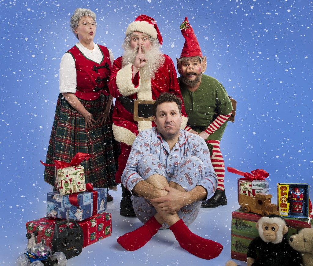 The cast of It's snowing on Saltspring - Photo by David Cooper