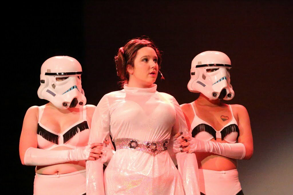 Trixie Hobbitses as Princess Leia with 2 Storm Troopers - Greg McKinnon