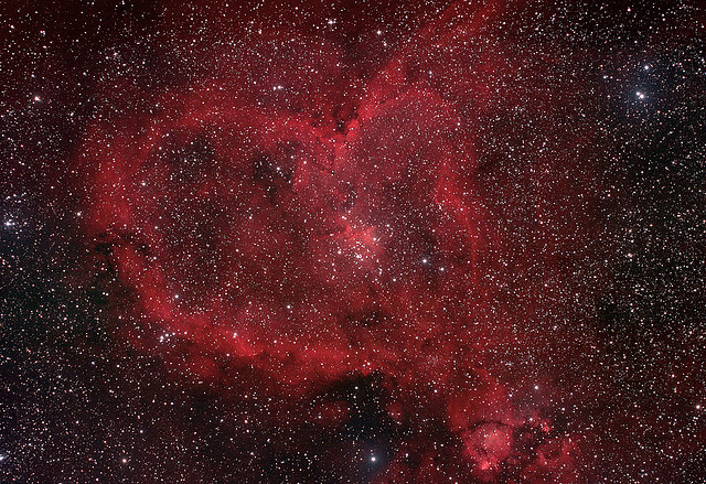 Space can be romantic, just check out this heart nebula. (Courtesy of s58y)