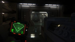 A modified version of the motion tracker is used by Amanda Ripley. (Andy Lau)