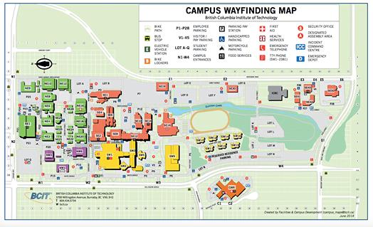 BCIT Campus Map