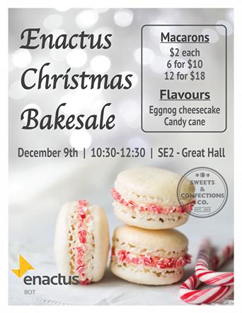 christmas-macaron-bakesale-poster