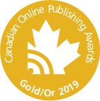canadian online publishing gold award for 2019
