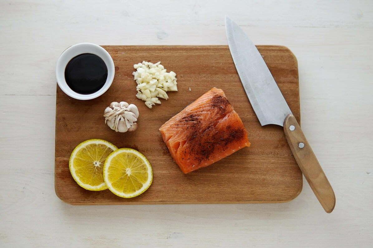 lemon and salmon